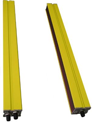 световая завеса) состоит из двух разнесенных узлов: передатчика (излучателя) и приемника, соединенных кабелем.